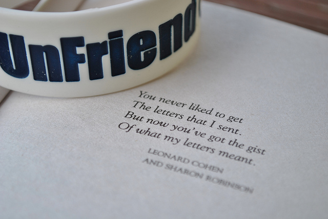 unfriend facebook
