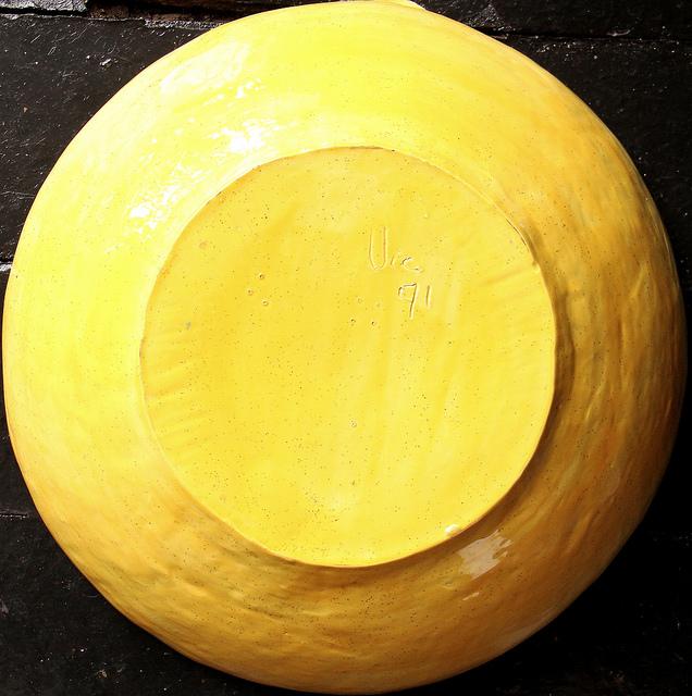 yellow bowl bucket