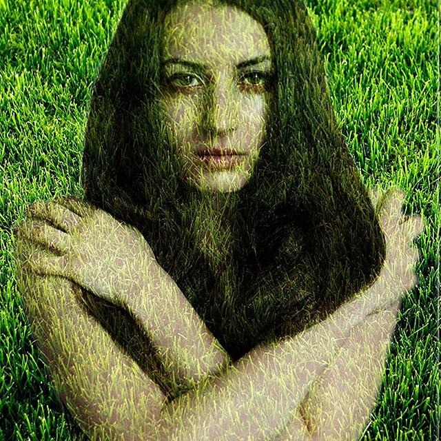 girl, strength, grass, vulnerable, strong