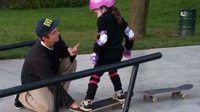kindness kids skateboarding