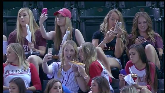 selfies baseball