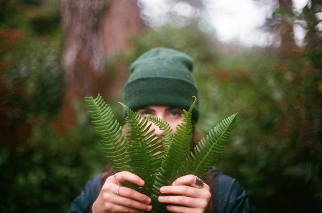 nature leaves girl green