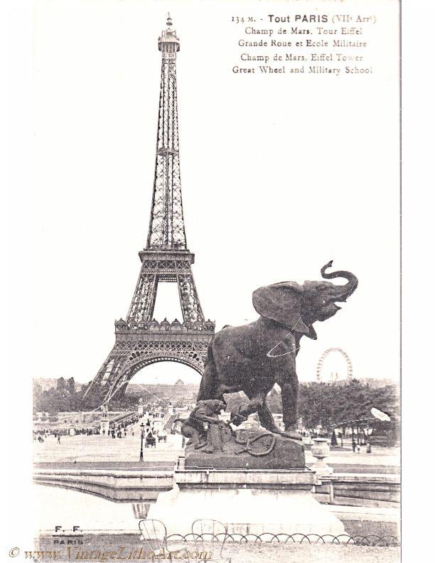 paris eiffel elephant