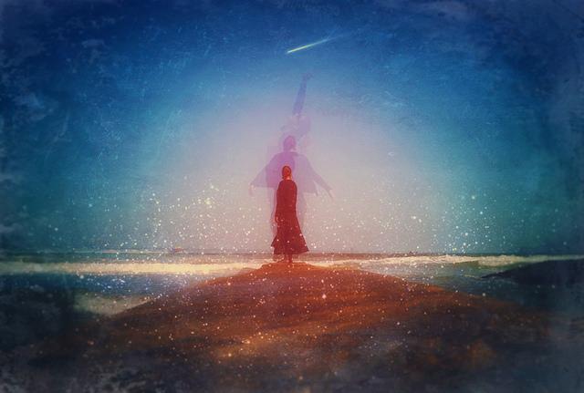 magic, woman, dancing, stars, night