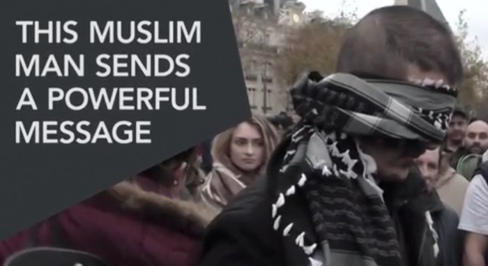 Muslim Man Blindfolded In Paris