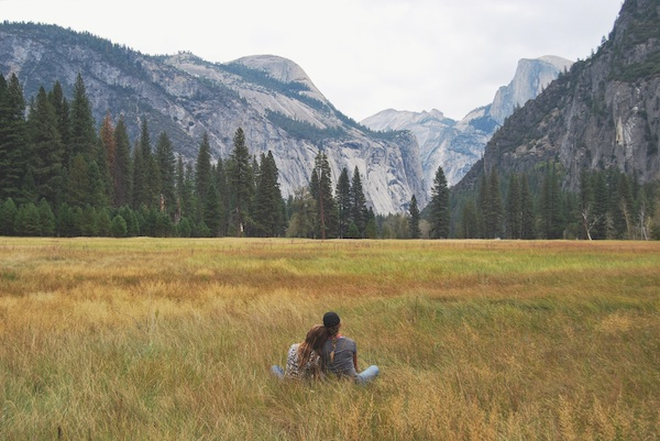 love couple field mountains outdoors nature