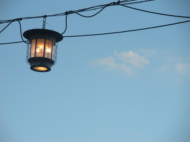 lantern blue sky