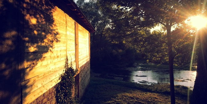 morning sunrise cabin