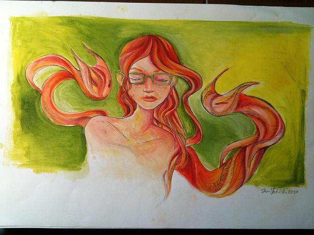 woman drawing art