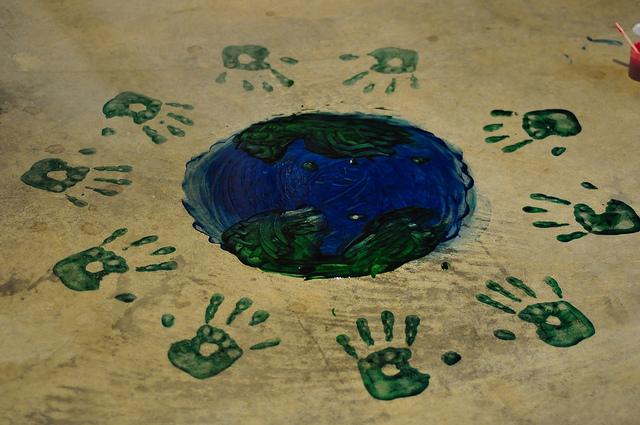 world hand prints