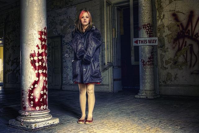 abandoned woman