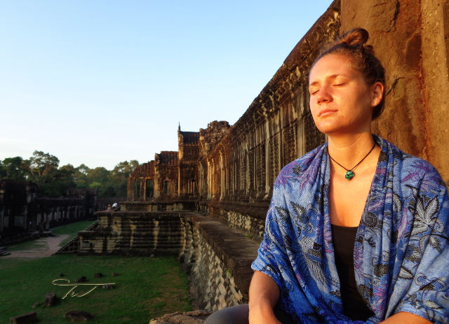 Christina Meditating @ Angkor Wat by Tony Westbrook Artist Photographer