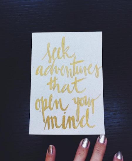 Seek Adventures open mind instagram Katarina Tavcar quote