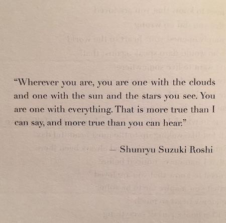 one with everything shunryu suzuki roshi buddhist quote inspiring