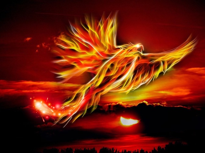 phoenix bird fire ashes reborn rebirth start over begin again