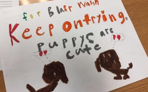 Blair Walsh letter kids screenshot