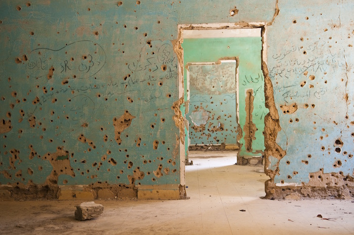 IStock Syria Bullets in Walls