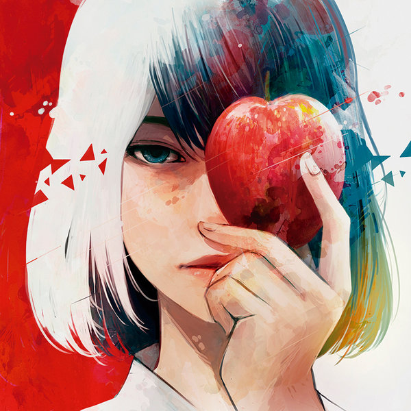 brave girl apple art