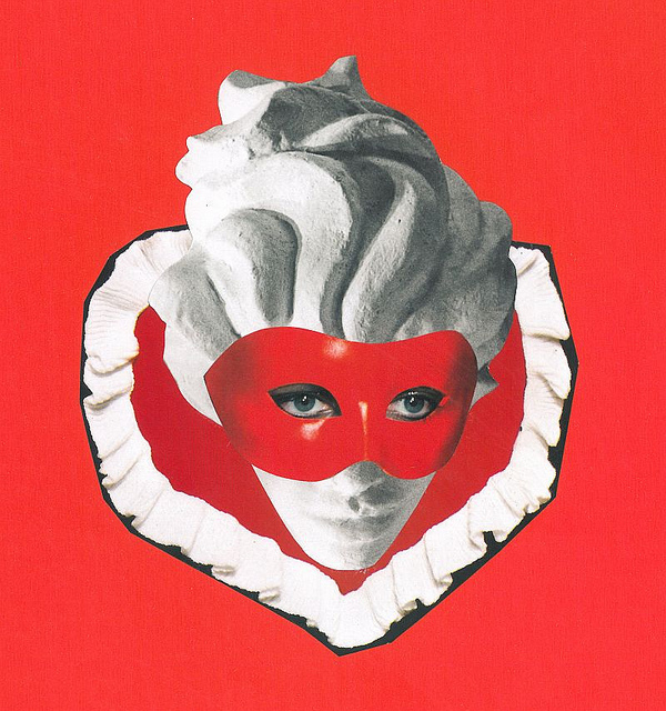 love heart mask red woman girl