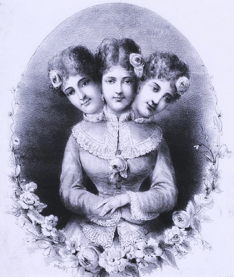 three headed woman authentic