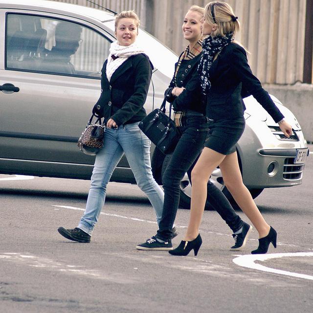 women teens walk talk gossip