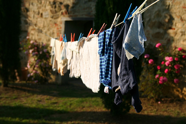 clothes line laundry hang