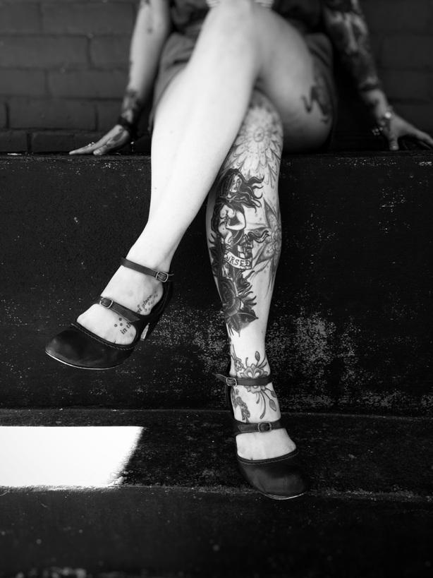 girl legs tattoo body