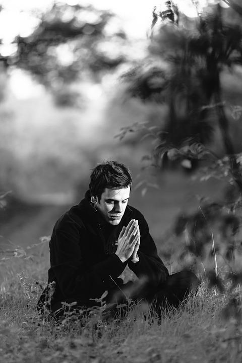 meditation man namaste