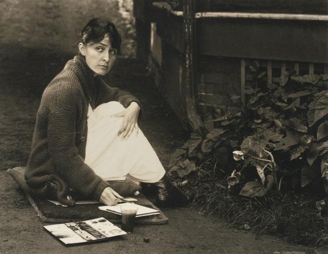 Painting Creative Woman Girl Georgia_O'Keeffe_by_Stieglitz,_1918