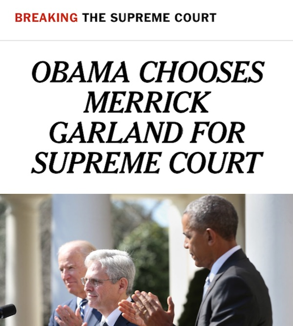 President Obama Merrick Garland Supreme Court