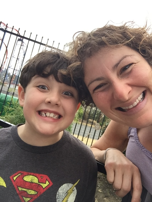 Sara Kaplan and son