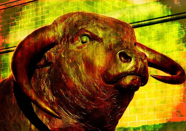 angry mad bull art