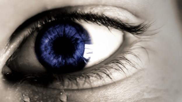 eye cry emotion blue