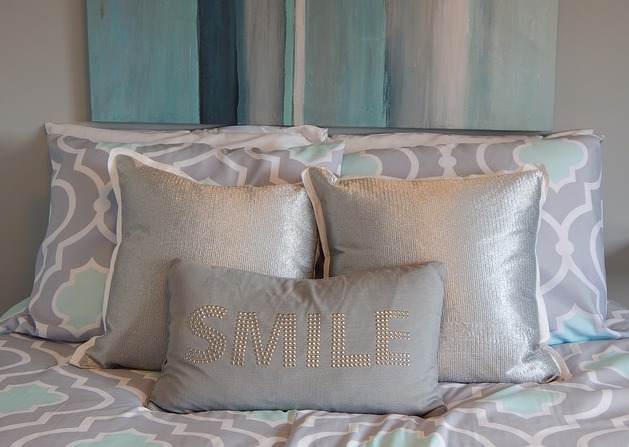 Pixabay Free for xommercial reuse. Pillows, happy, bed, alignment, intention