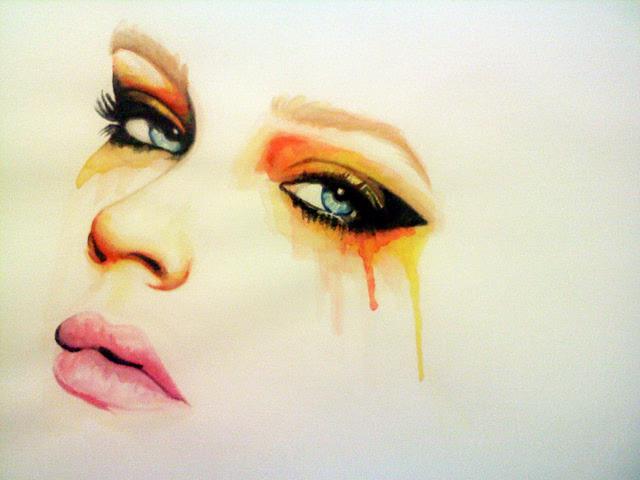 woman cry eyes art addiction deviantart