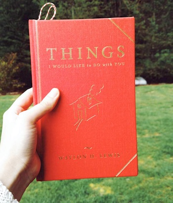 Waylon Lewis Things I would like to do with You book reader photo