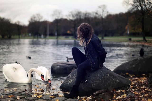 grief sadness alone girl