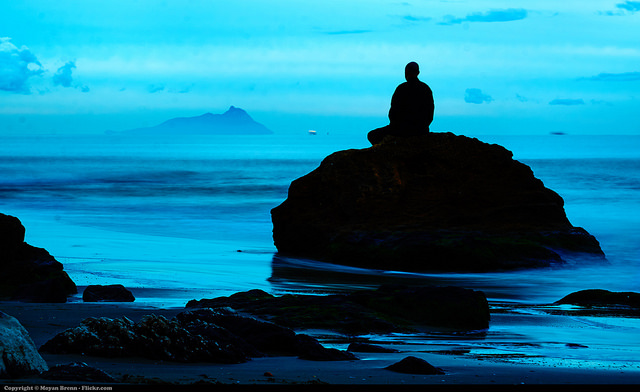 meditation blue zen alone