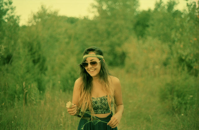 summer, girl, woman, field, happy, smile
