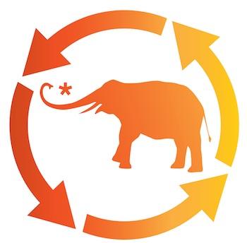 Elephant Ecosystem logo recycle symbol