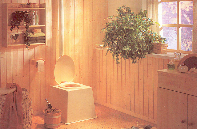 composting toilet eco green flush waste poo
