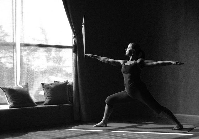 warrior yoga peaceful