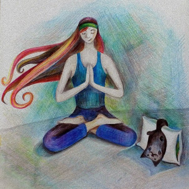 yoga art drawing