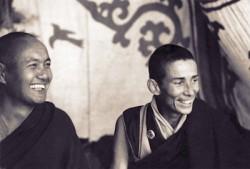 (00627_ud3.jpg) Lama Yeshe and Ani-la Ann at Kopan Monastery, Nepal, 1974.