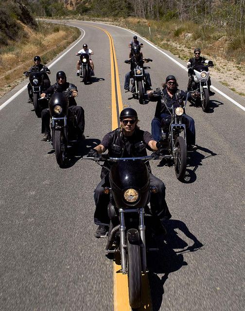 bikers sons of anarchy road travel