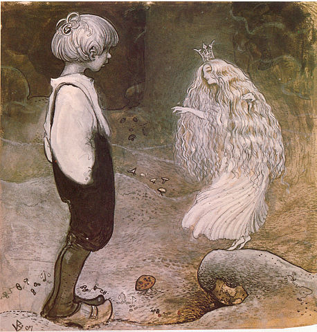 faerie and little boy drawing