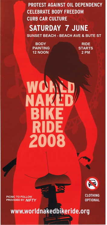 Naked bicyclists poster