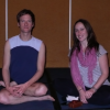 Chatting with Jason Crandell at the San Francisco Yoga Journal Conference.