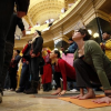 Sitting in Solidarity at the Wisconsin Capitol. ~ Andrea Russell