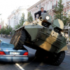 Video: Mayor Fights Cars Parked in Bike Lane with Tank